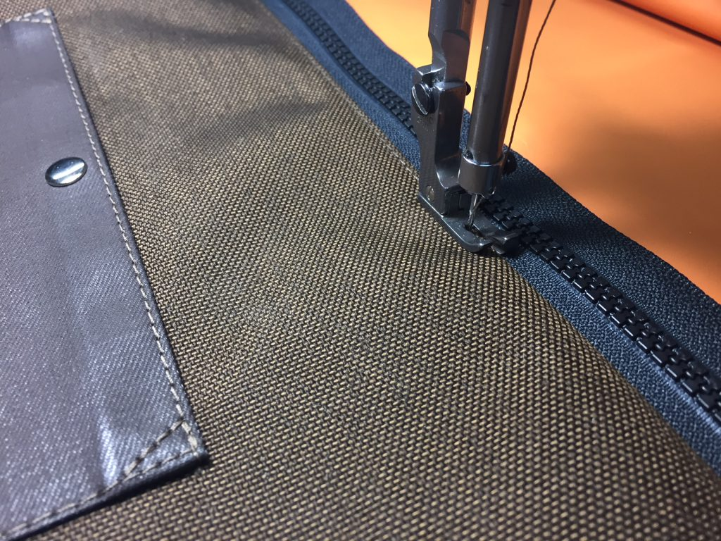 Top-stitching the zipper